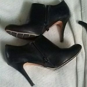 Cole Haan /Nike Black Leather Booties